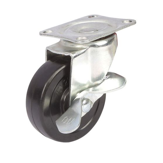 SCA Caster Wheel - 75 x 25mm, Metal Brake, Swivel, , scanz_hi-res