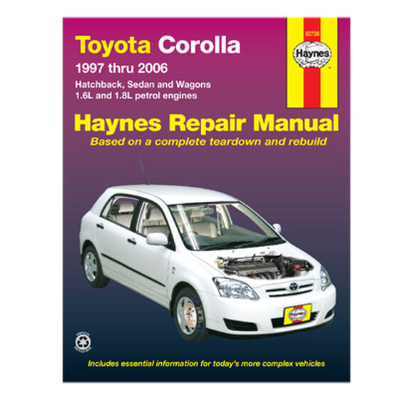 Haynes Car Manual For Toyota Corolla 1997-2006 - 92728, , scanz_hi-res