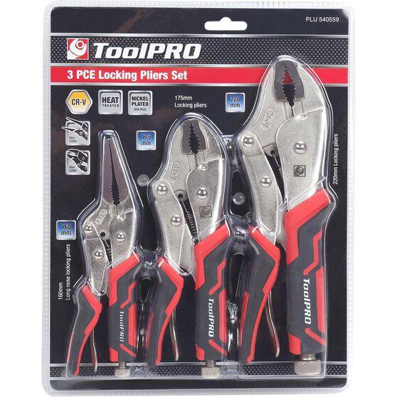 ToolPRO Locking Plier Set - 3 Pieces, , scanz_hi-res
