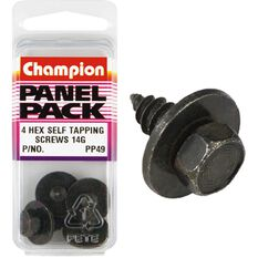 Champion Hex Self Tapping Screw - 14G, PP49, Panel Pack, , scanz_hi-res