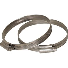 Stainless Steel Solid Band Hose Clamps - HC7090SS, 2 Piece, , scanz_hi-res