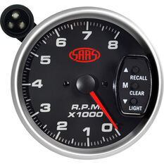 SAAS Tacho Gauge - Black, 3 3 / 4 inch, , scanz_hi-res