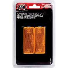 Reflector - Rectangle, 70 x 28mm, Amber, 2 Pack, , scanz_hi-res