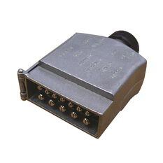 Trailer Plug - 12 Pin, Metal, Flat, , scanz_hi-res