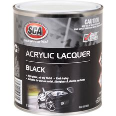SCA Acrylic Paint - Black, 2 Litre, , scanz_hi-res