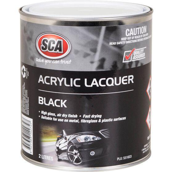 SCA Acrylic Paint - Black, 2 Litre, , scanz_hi-res