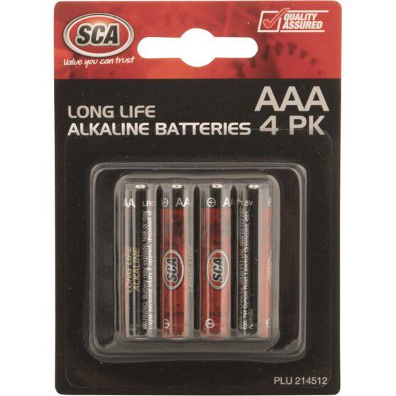 Battery - Alkaline, AAA, 4 Pack, , scanz_hi-res