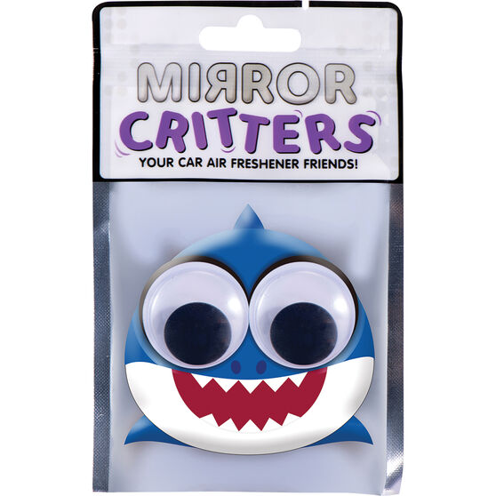 Mirror Critter Air Freshener - Baby Shark Ocean Breeze, , scanz_hi-res
