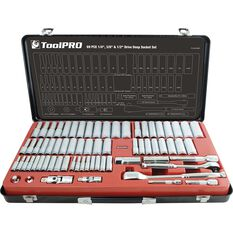 "ToolPRO Socket Set 1/4"" 3/8"" & 1/2"" Drive Metric/SAE 69 Piece, , scanz_hi-res"