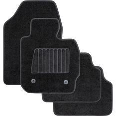 SCA Accelerator Cutout Floor Mats Carpet Black Set of 4, , scanz_hi-res