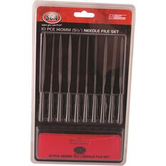 SCA Needle File Set - 140mm, 10 Piece, , scanz_hi-res