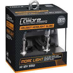 Calibre Headlight Globes Plus 90 H1 12V 55W, , scanz_hi-res