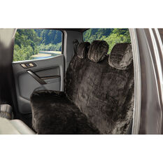 SCA Luxury Fur Seat Cover - Black, Adjustable Headrests, Size 06H, Rear Seat, , scanz_hi-res
