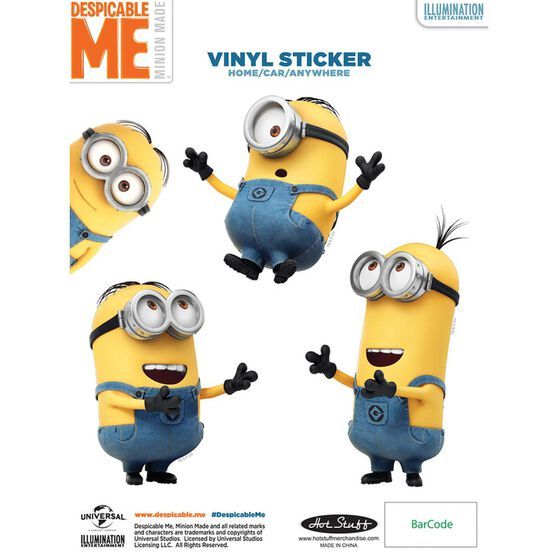 Sticker - Minion Trio, Vinyl, , scanz_hi-res