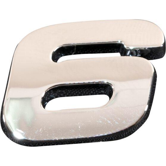SCA 3D Chrome Badge Number 6 / 9, , scanz_hi-res