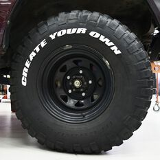 Tire Stickers - Letter W, , scanz_hi-res