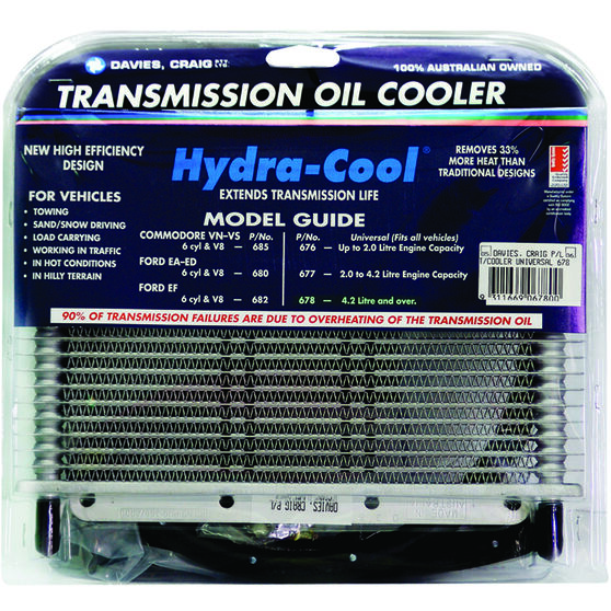 Davies Craig Hydra-Cool Transmission Oil Cooler - Universal, 8 Cylinder, , scanz_hi-res