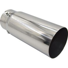 Calibre Stainless Steel Exhaust Tip - Straight Cut Tip suits 52mm to 76mm, , scanz_hi-res