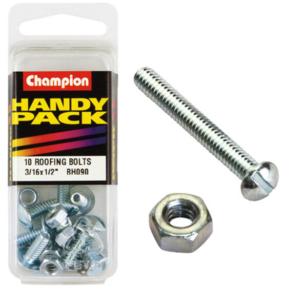 Champion Roofing Bolts - 3 / 16inch X 1 / 2inch, BH090, Handy Pack, , scanz_hi-res