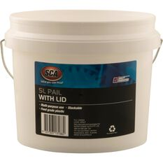 White Pail Bucket With Lid - 5L, , scanz_hi-res