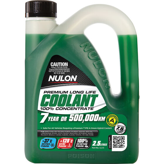 Nulon Green Premium Long Life Coolant Concentrate 2.5 Litre, , scanz_hi-res