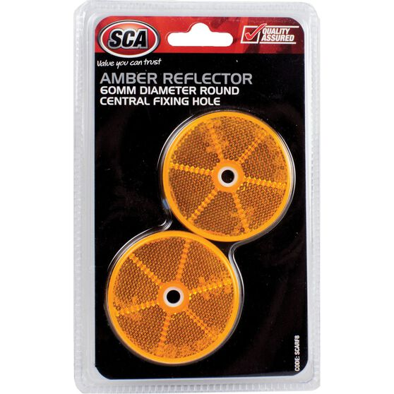 SCA Reflector - Amber, 60mm, Round, 2 Pack, , scanz_hi-res