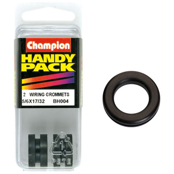Champion Wiring Grommet - 5 / 16inch X 17 / 32inch, BH004inch, Handy Pack, , scanz_hi-res
