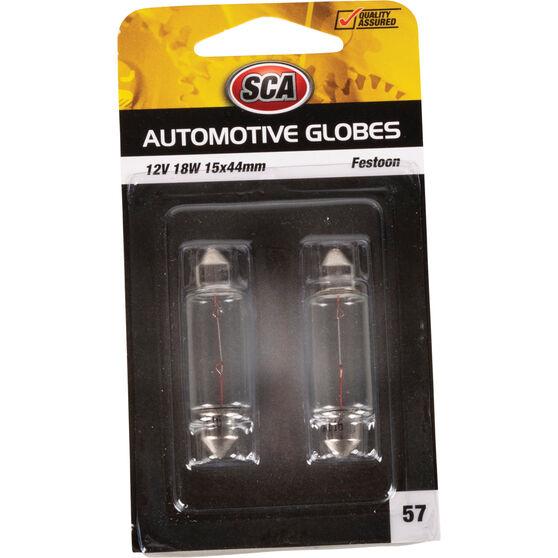 SCA Automotive Globe - Festoon, 12V, 18W, 2 Pack, , scanz_hi-res
