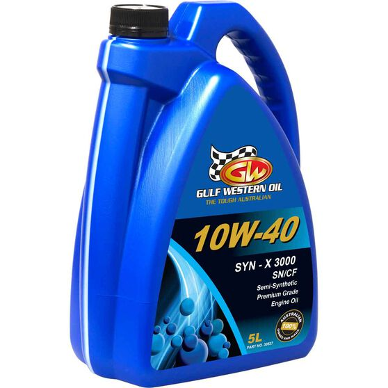 Gulf Western Syn-X 3000 Engine Oil - 10W-40 5 Litre, , scanz_hi-res