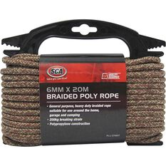 SCA 16 Strand Braided Poly Rope - 6mm X 20m, , scanz_hi-res