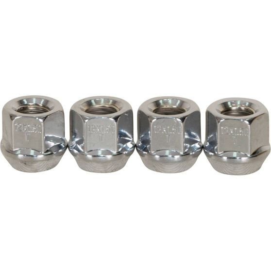 Calibre Wheel Nuts, Tapered Open End, Chrome - OEN12150, 12mm x 1.5mm, , scanz_hi-res