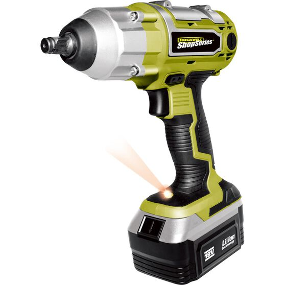 Rockwell ShopSeries Cordless Impact Wrench - 1 / 2in Drive, 18V Li-Ion, , scanz_hi-res