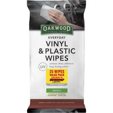Oakwood Everyday Vinyl & Plastic Wipes 25 Pack, , scanz_hi-res
