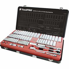 ToolPro Socket Set - 1 / 4 inch, 3 / 8 inch and 1 / 2 inch Drive, Metric / Imperial, 69 Piece, , scanz_hi-res