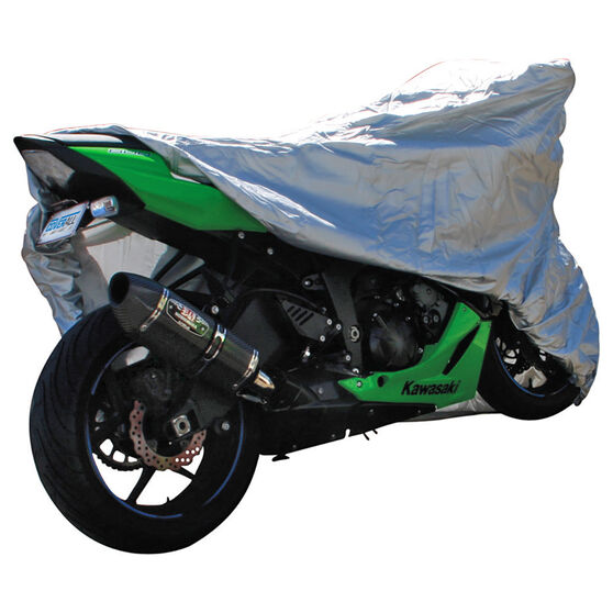 CoverALL Motorcycle Cover Silver Protection Water Resistant - Medium, Suits 750-1000cc, , scanz_hi-res