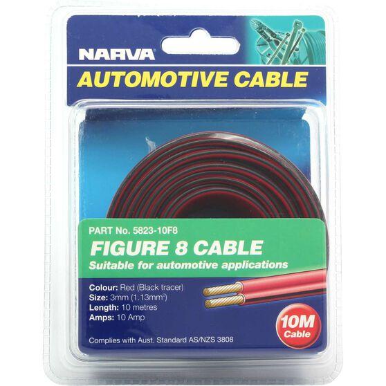 Narva Automotive Cable - Figure 8, 10 Metres, 3mm, 10 AMP, , scanz_hi-res