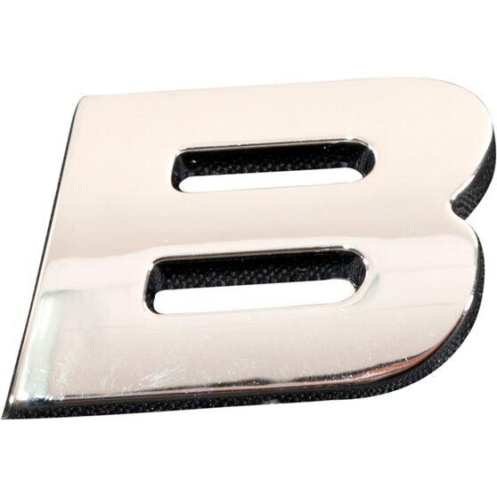 3D Chrome Badge - Letter B, , scanz_hi-res