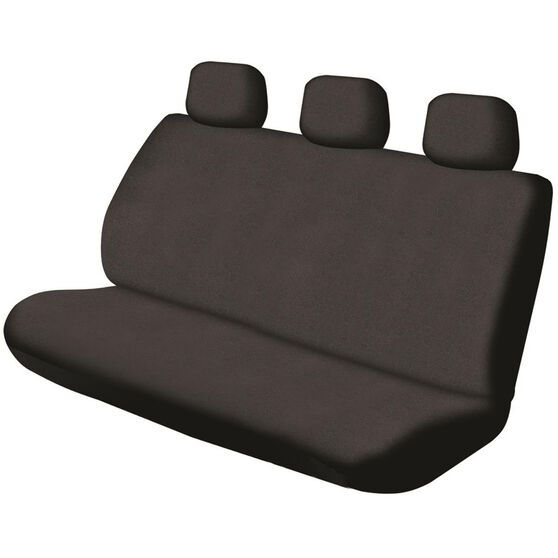 SCA Canvas Seat Cover - Black, Adjustable Headrests, Size 06H, Rear Seat, , scanz_hi-res