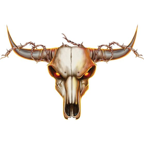 Hot Stuff Sticker - Cow Skull, Vinyl, , scanz_hi-res