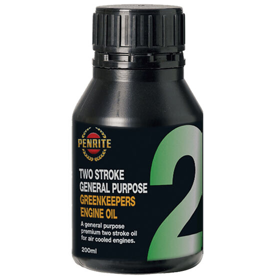 Penrite Greenkeepers 2 Stroke Lawnmower Oil - 200mL, , scanz_hi-res