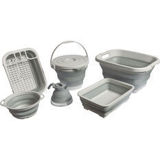 Ridge Ryder Collapsible Colander - Grey, , scanz_hi-res