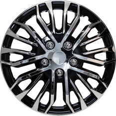 Street Series Wheel Covers - Plasma 16in, Black / Chrome, 4 Pack, , scanz_hi-res