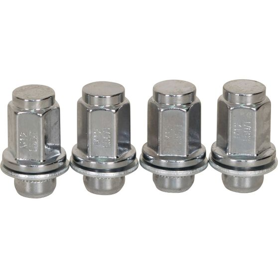 Calibre Wheel Nuts, Shank, Chrome, For Various Toyota - MN12150TOY, 12mm x 1.5mm, , scanz_hi-res