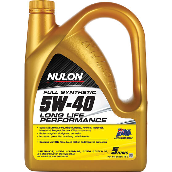 Nulon Full Synthetic Long Life Engine Oil 5W-40 5 Litre, , scanz_hi-res