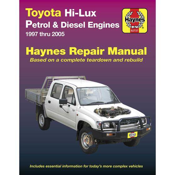 Haynes Car Manual Toyota Hilux 1997-2005 - 92737, , scanz_hi-res