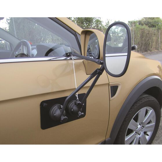 Towing Mirror - With Magnetic Support Pad, Single, , scanz_hi-res