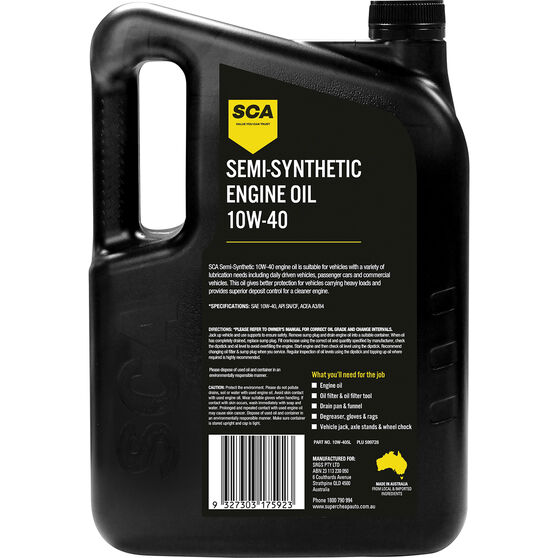 SCA Semi Synthetic Engine Oil 10W-40 5 Litre, , scanz_hi-res