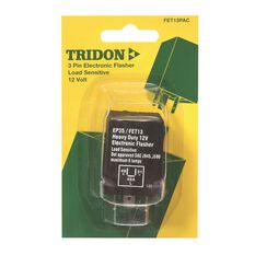 Tridon Electronic Flasher Relay Unit, Load Sensitive - 12V, 3 Pin, , scanz_hi-res
