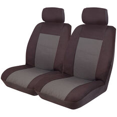 Imperial Seat Covers - Black Front Pair Adjustable Headrests Size 30, , scanz_hi-res