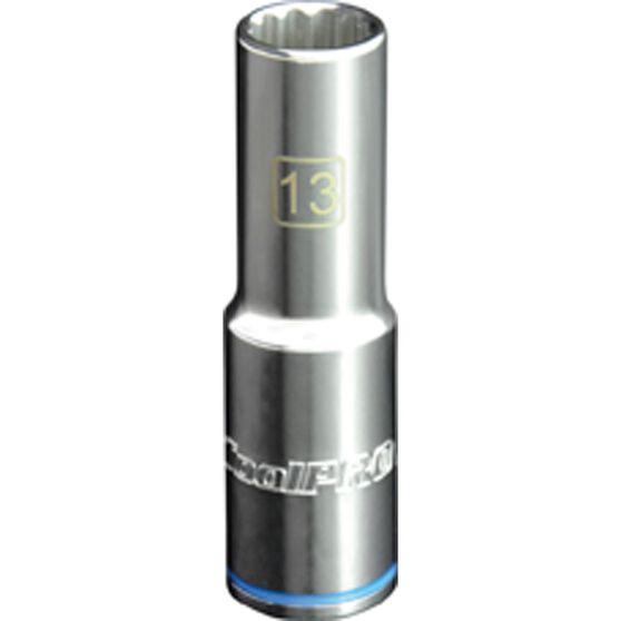 ToolPro Single Socket - Deep, 1 / 2 inch Drive, 13mm, , scanz_hi-res